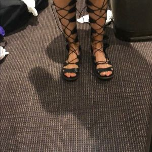 Topshop knee rise gladiator sandals